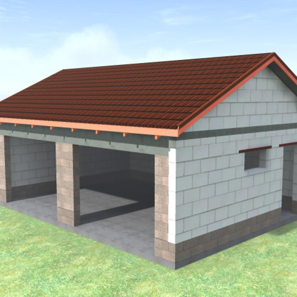 построить гараж из газобетона цена